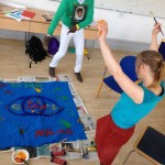 "Idé -> Action på Ett Enat Malmös Sommarakademi 2014. ""Se varandra!"" va budskapet som togs fram av workshopdeltagarna."